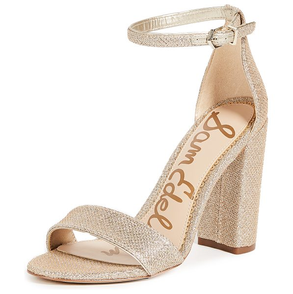 Sam Edelman yaro sandals in jute - Refined Sam Edelman sandals crafted in a bold, metallic...