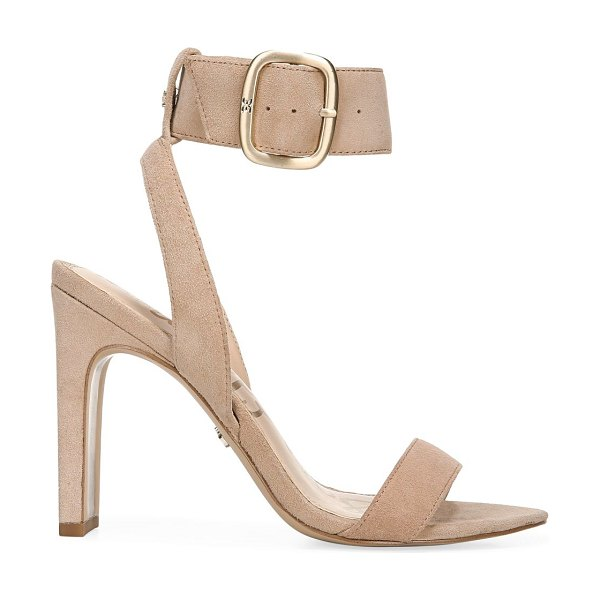 Sam Edelman yola suede ankle-strap sandals in nude