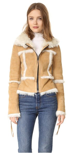 SAM. stevie shearling jacket - A cozy SAM. jacket made from shaggy shearling. Zips...