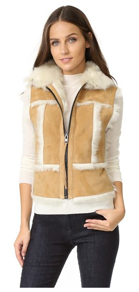 SAM. stevie shearling vest in camel - A cozy SAM. vest made from shaggy shearling. Zip...