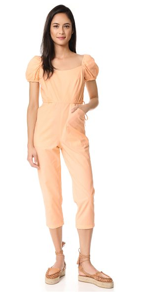 Samantha Pleet siren jumpsuit in peach - A Samantha Pleet jumpsuit with covered elastic at the...