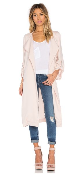 Sam&Lavi Lila jacket in blush - 100% tencel. Dry clean only. Self tie waist. Front slant...