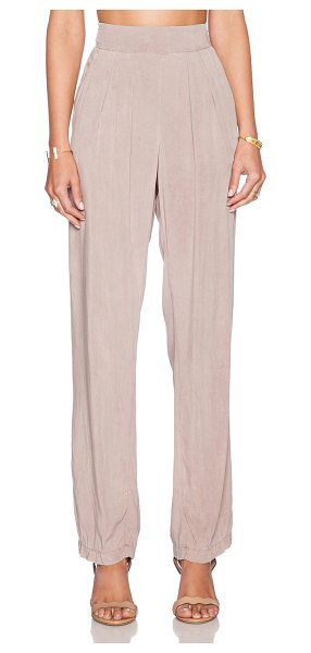 Sam&Lavi Parker pant in beige - 100% rayon. Dry clean only. Elasticized waist. Side...