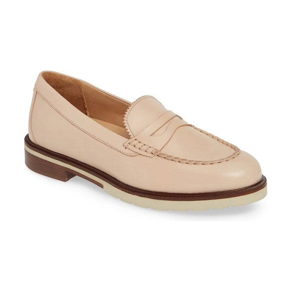 Samuel Hubbard tailored traveler loafer in pink - A lightweight loafer is handcrafted in Portugal from...