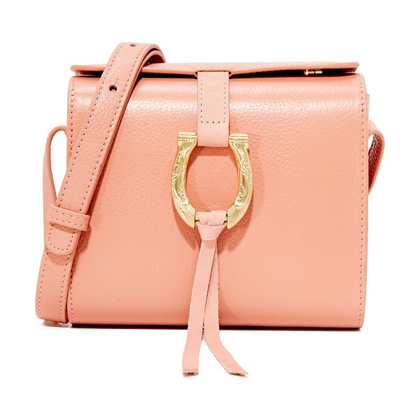 Sancia madelna mini bag in canyon rose - A petite, pebbled leather SANCIA bag with inset suede...
