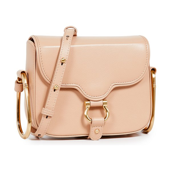 Sancia the gigi mini crossbody bag in nude - Leather: Cowhide Magnetic at back Patch interior pocket...