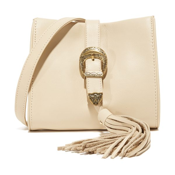 Sancia X vanessa mooney buckle clutch in sand - A collaboration between Sancia and Vanessa Mooney, this...