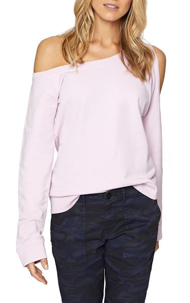 SANCTUARY alexi asymmetrical sweatshirt - Sexy shoulders are in the spotlight with the...