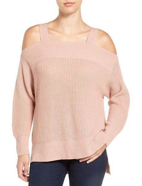 Sanctuary amelie cold shoulder sweater in misty rose - Show off shoulders while staying delightfully cozy in...