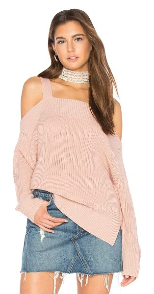 Sanctuary Amelie Sweater in misty rose - Cotton blend. Hand wash cold. Open shoulders. Rib knit...