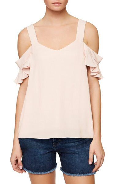 Sanctuary annie cold shoulder blouse in cameo pink - Fluttery little sleeves romance the cold-shoulder...