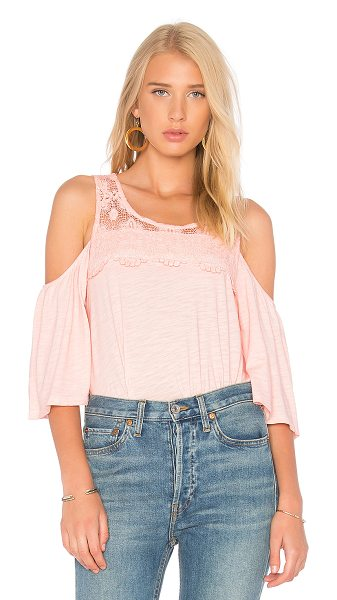 Sanctuary Aria Top in pink - Self: 55% cotton 45% rayonContrast: 100% cotton....