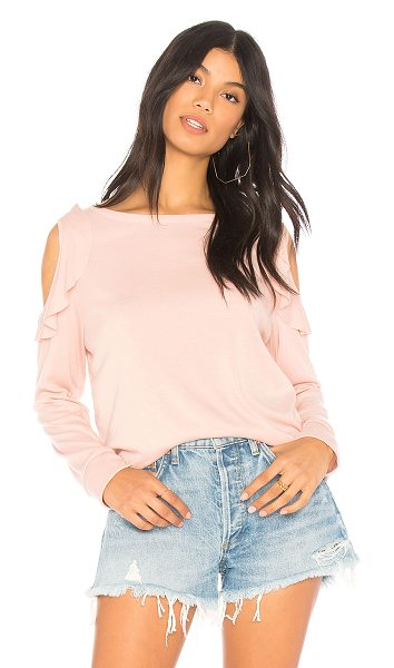 Sanctuary Ashley Tee in pink - Cotton blend. Hand wash cold. Shoulder cut-outs. Ruffle...