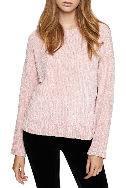 Sanctuary chenille sweater in celestial pink - Chase away the chill with this drop-shoulder pullover...