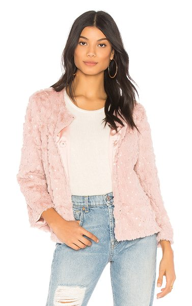 Sanctuary Chubby Jacket in pink - Poly blend. Dry clean only. Front snap button closure....