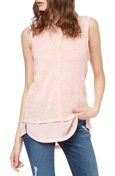 Sanctuary city linen knit tank in chalk pink - A staple tank in cool and breathable linen knit sports a...