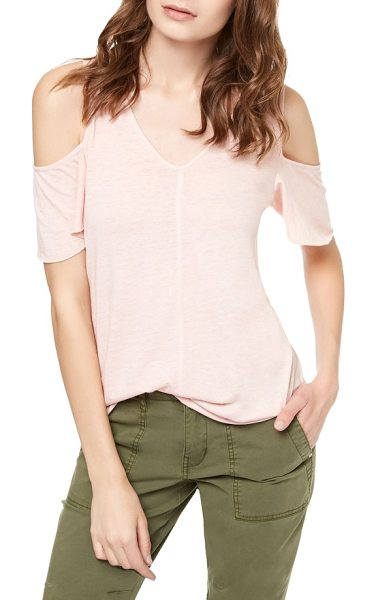 SANCTUARY dahlia cold shoulder tee in chalk pink - Flashing just enough skin, shoulder cutouts update this...