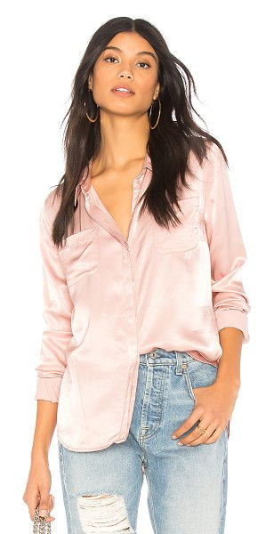 Sanctuary Dreamer Button Up in pink - Poly blend. Front button closure. Chest patch pockets....