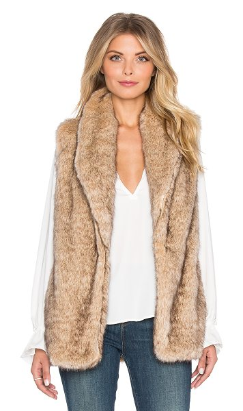 Sanctuary Hollywood faux fur vest in tan