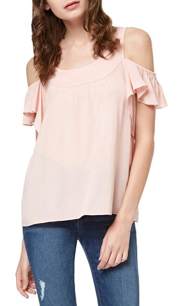 Sanctuary lenox off the shoulder top in chalk pink - Ruffled sleeves add the pefect note of feminine frill to...