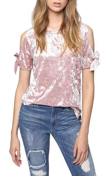 Sanctuary lou crushed velvet top in celestial pink