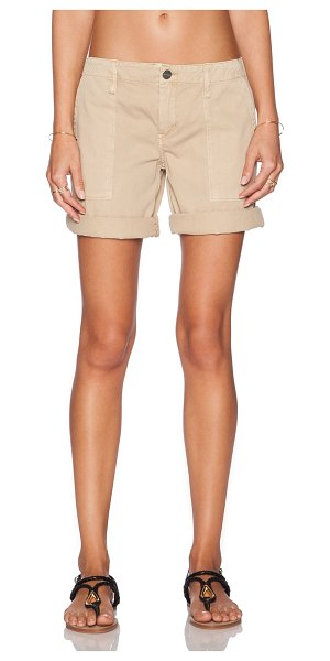 "Sanctuary Peace bermuda short in tan - 100% cotton. Shorts measure approx 17"""" in length. Side..."