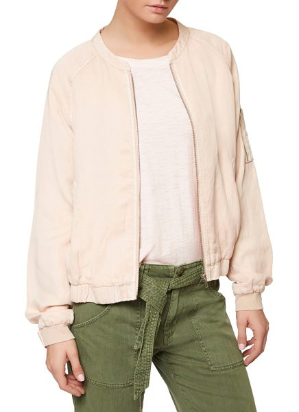 Sanctuary pilot bomber jacket in cameo pink - Your go-to outer layer for spring, this utility bomber...