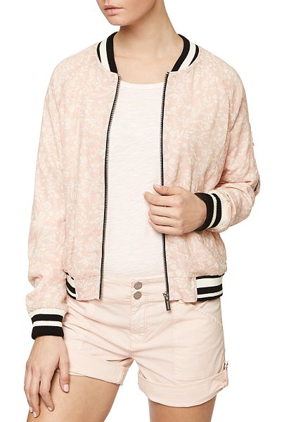 Sanctuary Sprout Floral Print Bomber Jacket in cameo pink sprout - Sanctuary Sprout Floral Print Bomber Jacket-Women