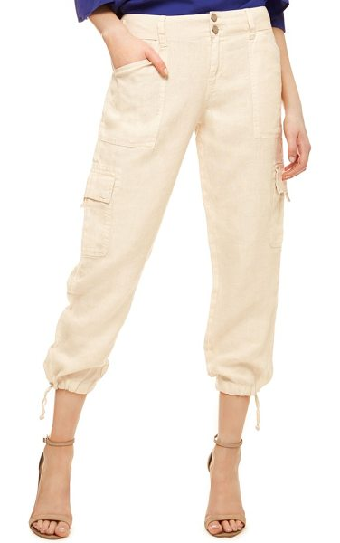 Sanctuary terrain linen crop cargo pants in dune - Crop-length cargos cut from lightweight woven linen are...