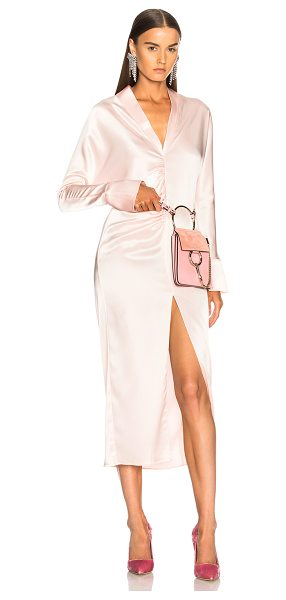 Sandra Mansour Cressida Dress in pink - 82% triacetate 18% poly.  Made in Lebanon.  Dry clean...