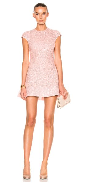 Sandra Mansour Eclat Dress in pink - 100% poly. Made in Lebanon. Dry clean only. Fully lined....