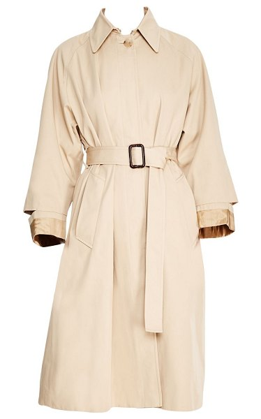 Sandro rafael trench coat in beige - Chic oversized trench coat cinched at the waist with a...