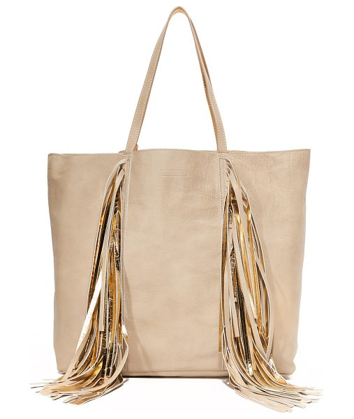SARA BATTAGLIA Sara Battaglia Everyday Shopper Tote in beige/gold