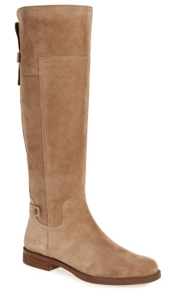 SARTO By Franco Sarto coley boot in sandstone suede - Two snap-detail tabs down the back add to the rustic...