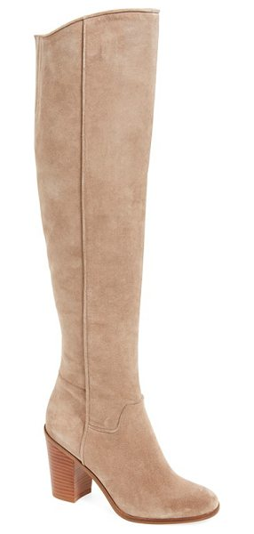 SARTO By Franco Sarto 'faye' over the knee boot in sandstone suede - This streamlined over-the-knee boot serves as a stunning...