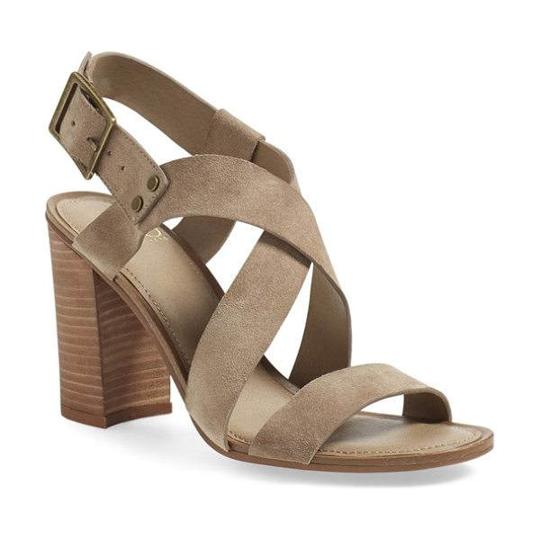 SARTO BY FRANCO SARTO Franco sarto sabine block heel sandal in sandstone - Crisscrossing straps shaped from smooth leather or lush...