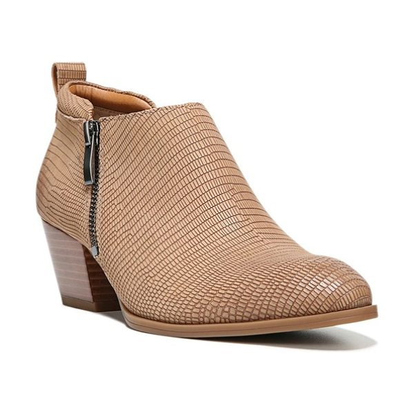 SARTO By Franco Sarto 'granite' block heel bootie in dune leather - A super-low iteration of this season's must-have bootie...