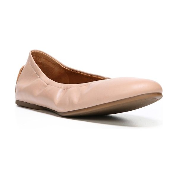 SARTO By Franco Sarto lindy skimmer flat in adobe rose leather - A chic, flexible little skimmer flat is as pretty as it...