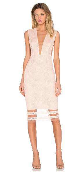 SAU Kendall Dress in pink - Poly blend. Partially lined. Back hidden zipper closure....