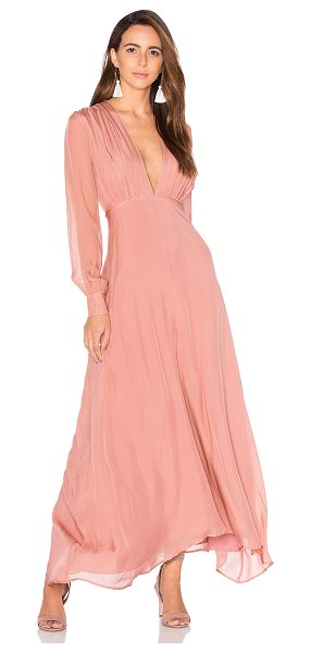 SAU Vera Gown in blush - Self: 100% silkLining: 100% rayon. Dry clean only. Fully...