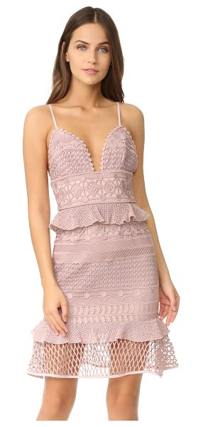 Saylor drew dress in blush - Mixed patterns accent this feminine Saylor sheath dress....