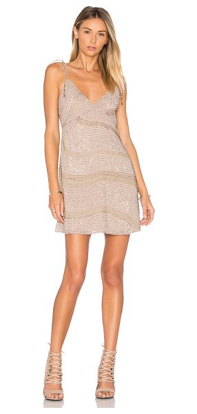 Saylor Freya Dress in champagne - Shell & Lining: 100% poly. Dry clean only. Fully lined....