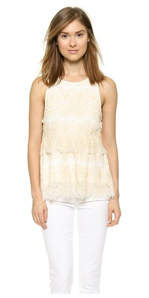 Saylor Hazel blouse in natural - A draped fold over panel lends sweet volume to this...
