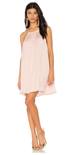 Saylor Jenna Dress in blush - Viscose blend. Dry clean only. Unlined. Adjustable...