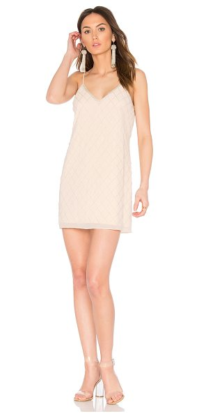 Saylor Lolita Dress in blush - Self & Lining: 100% poly. Dry clean only. Fully lined....