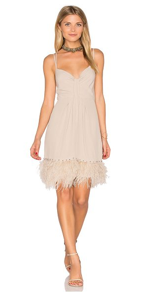Saylor Mallory Dress in taupe - Self: 57% rayon 43% viscoseLining: 100% poly. Dry clean...