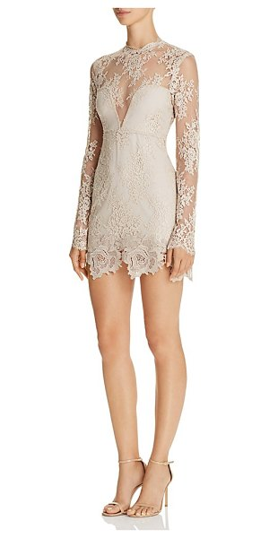 Saylor Open Back Lace Dress in nude - Saylor Open Back Lace Dress-Women