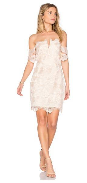 Saylor Sansa Dress in blush - Self: 85% viscose 15% polyLining: 100% poly. Dry clean...