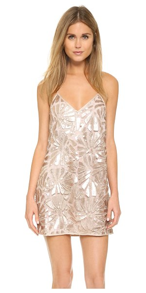 Saylor Talia tunic in rose gold - A sequined crochet shell lends glamour to this racer...