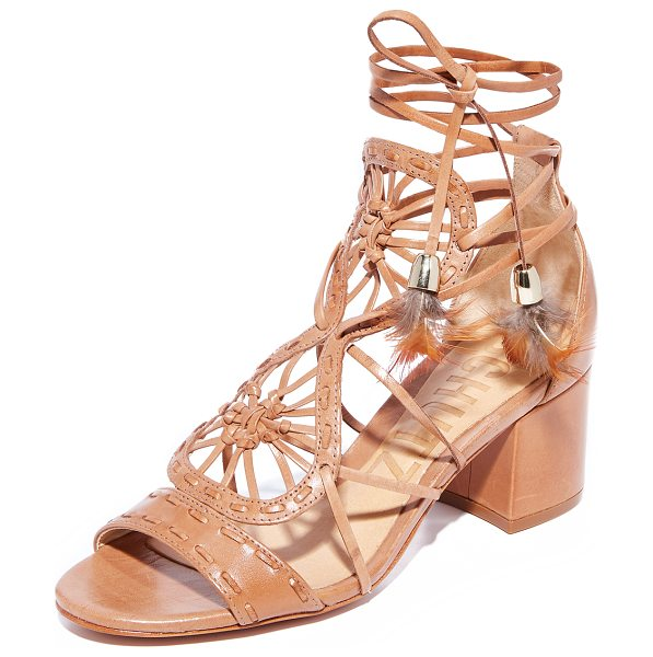 SCHUTZ alianna city sandals - Delicate knotted straps add intricate detail to these...